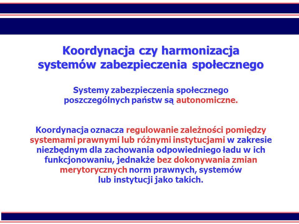 6 Koordynacja czy harmonizacja systemów zabezpieczenia społecznego Koordynacja czy harmonizacja systemów zabezpieczenia społecznego Systemy zabezpiecz