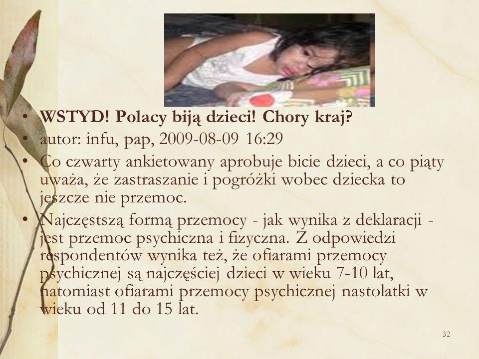 32 WSTYD.Polacy biją dzieci. Chory kraj.