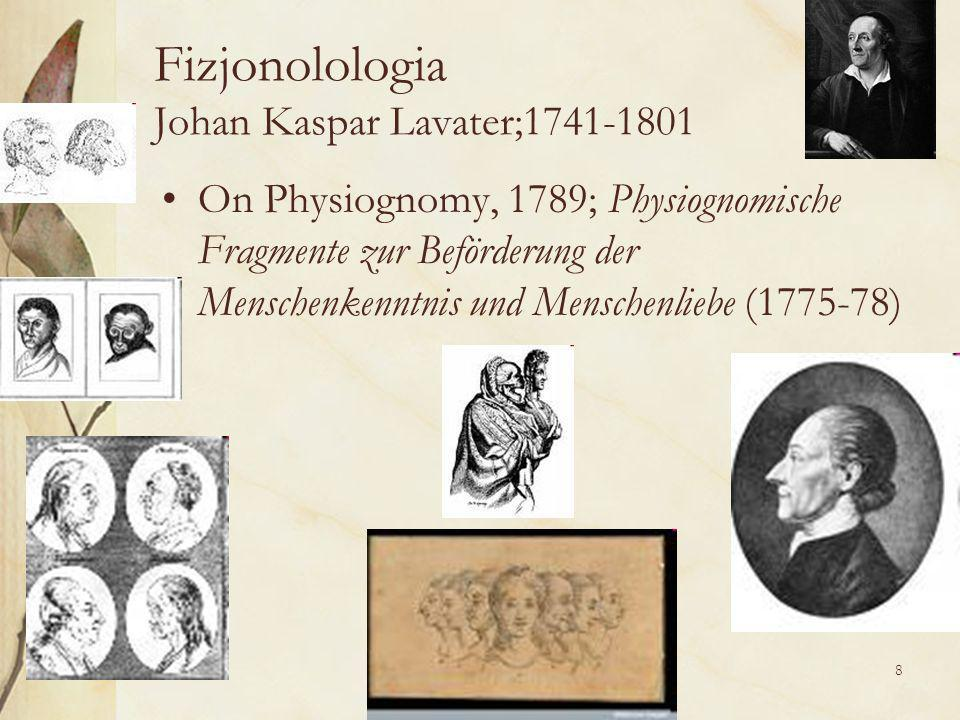8 Fizjonolologia Johan Kaspar Lavater;1741-1801 On Physiognomy, 1789; Physiognomische Fragmente zur Beförderung der Menschenkenntnis und Menschenliebe