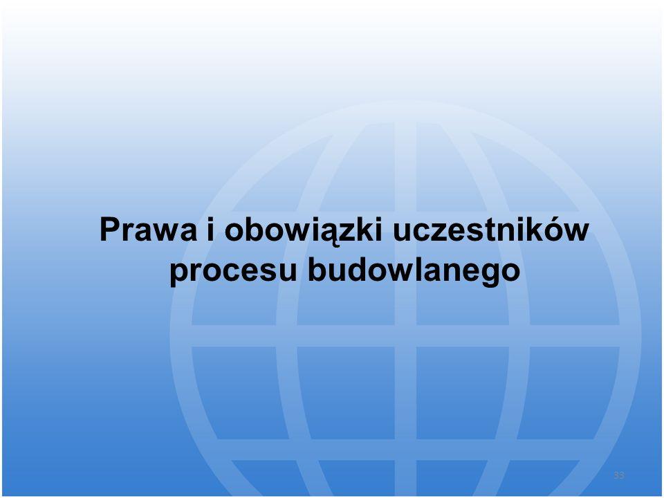 Prawa i obowiązki uczestników procesu budowlanego 33
