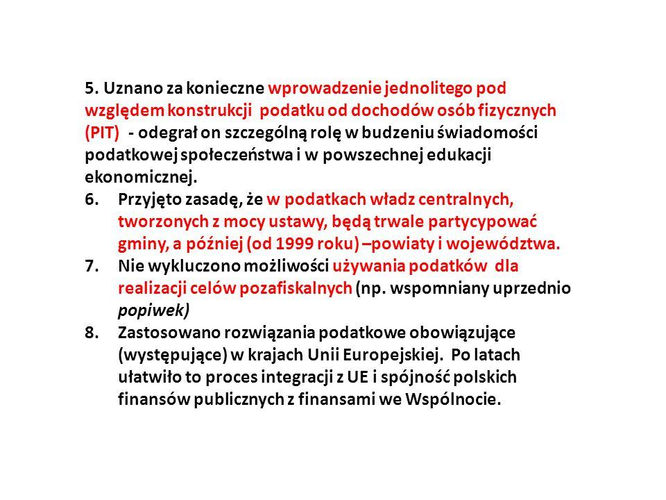 Etapy budowania polskiego systemu finansowego w ramach procesu dokonującej się transformacji po roku 1989 Etap 1 – związany z reformą samorządową.