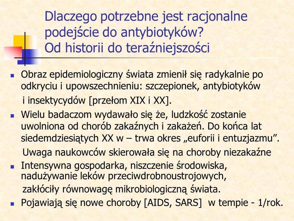 Racjonalizm w stosowaniu antybiotyków Krystyna Gabryelów-Siek