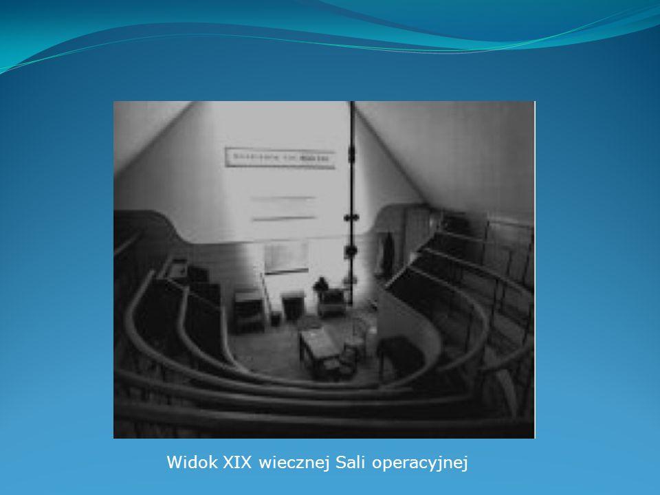 Widok XIX wiecznej Sali operacyjnej