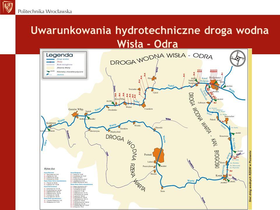 Uwarunkowania hydrotechniczne droga wodna Wisła - Odra