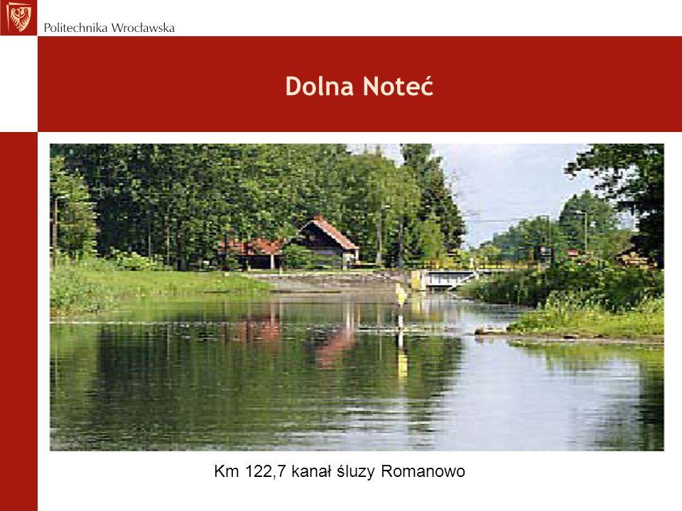 Dolna Noteć Km 122,7 kanał śluzy Romanowo