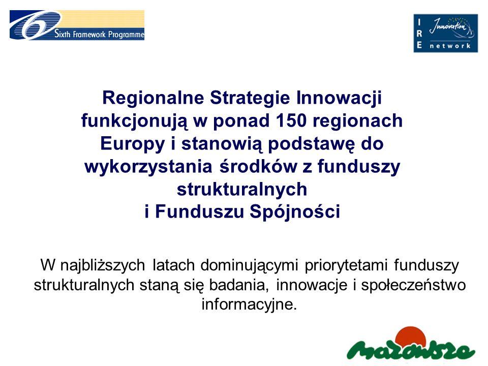 RIS MAZOVIA – priorytety i wyzwania dla Regionalnej Strategii Innowacji Tworzenie i rozwój sieci współpracy w zakresie innowacji; Działania wspierające tworzenie i rozwój przedsiębiorstw innowacyjnych; Przyspieszenie rozwoju regionu poprzez wykorzystanie potencjału Warszawy; Promocja innowacyjności wśród MSP, B+R i władz regionu; Edukacja – kreowanie postaw proinnowacyjnych; Narzędzia wspierania innowacyjności (Agencja Rozwoju Mazowsza, system finansowanie innowacji, parki naukowe i technologiczne, inkubatory itp.)