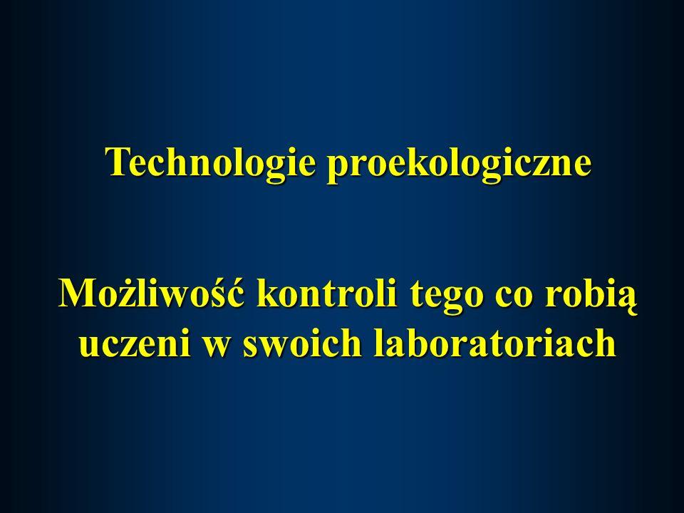 Technologie proekologiczne Możliwość kontroli tego co robią uczeni w swoich laboratoriach
