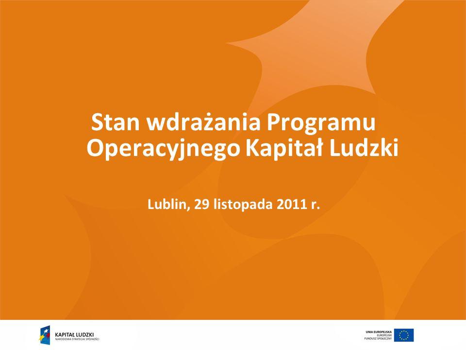 2 Wykorzystanie alokacji 2007-2013 w ramach Komponentu Regionalnego (wg stanu na 21 listopada 2011)