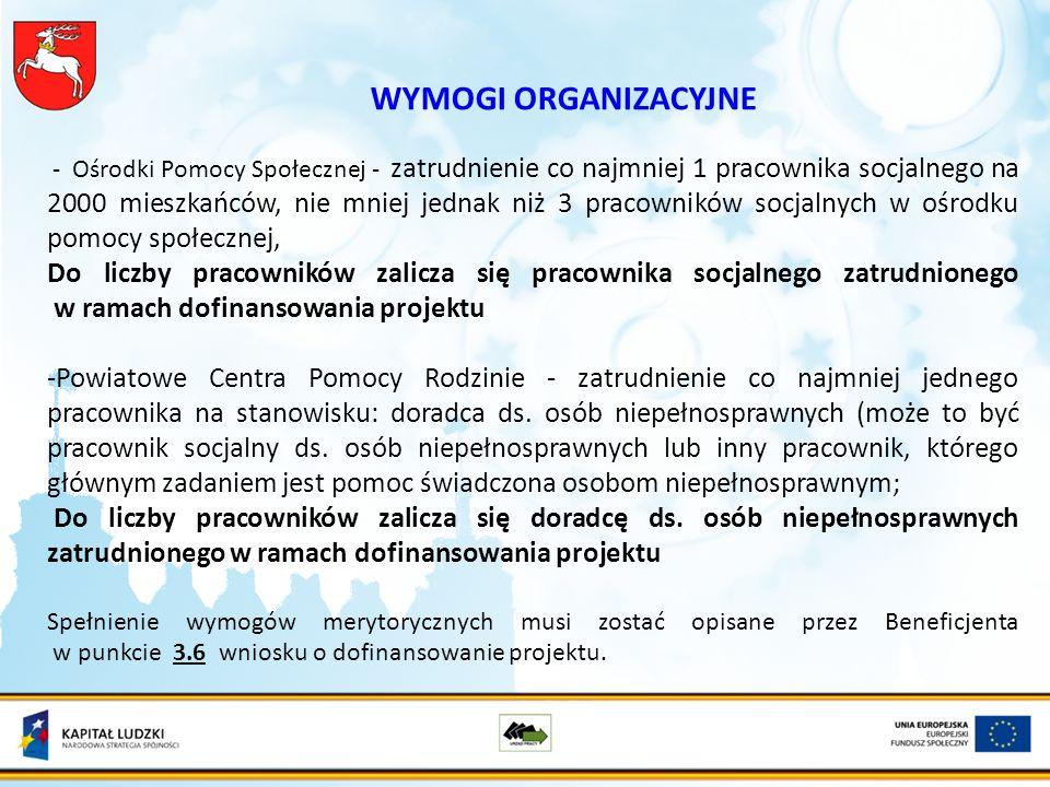 Kryterium dostępu 7.1.1, 7.1.2 W ramach projektu, obejmującego wsparciem osoby bezrobotne, obligatoryjne jest nawiązanie formalnej współpracy z powiatowym urzędem pracy, właściwym dla obszaru realizacji projektu w zakresie konsultacji grupy docelowej i zastosowania aktywnych form wsparcia w szczególności aktywizacji zawodowej.