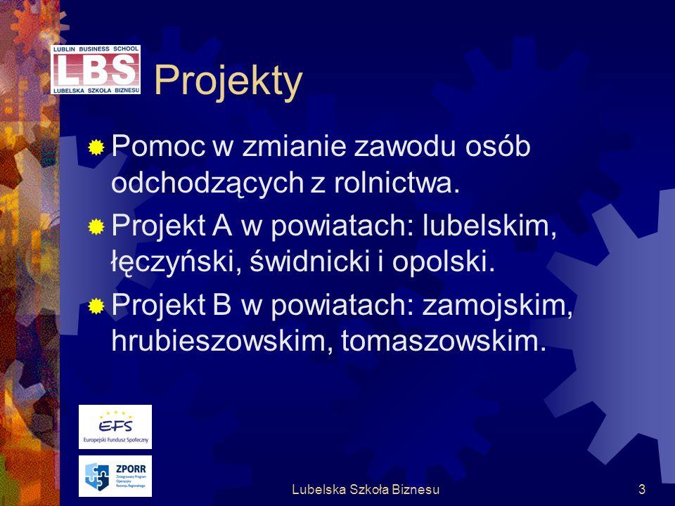 Lubelska Szkoła Biznesu3 Projekty Pomoc w zmianie zawodu osób odchodzących z rolnictwa.