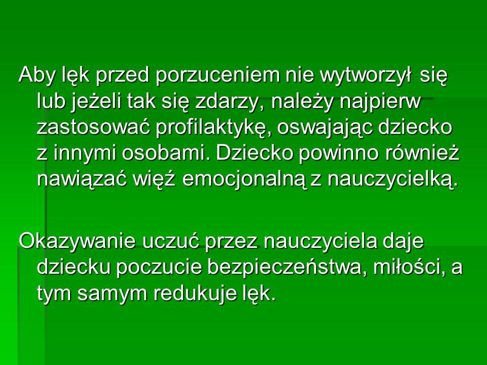 Molicka M., Bajkoterapia, o lękach dzieci i nowej metodzie terapii, Poznań 2002, Muszyński H., Zarys teorii wychowania, Warszawa 1997, Ortner, Bajki na dobry sen, Warszawa 1996, Osuchowska I., Wykorzystanie bajek i baśni w psychoterapii dzieci i młodzieży, w: Baśń i dziecko, (red.) Skrobiszewska H., Warszawa 1978, Przetacznik-Gierowska M., Makiełło-Jarża G., Psychologia rozwojowa i wychowawcza wieku dziecięcego, Warszawa 1992, Reykowski J., O rozwoju osobowości, Psychologia Wychowawcza nr3 1976, Teml H., Relaks w nauczaniu, Warszawa 1997,