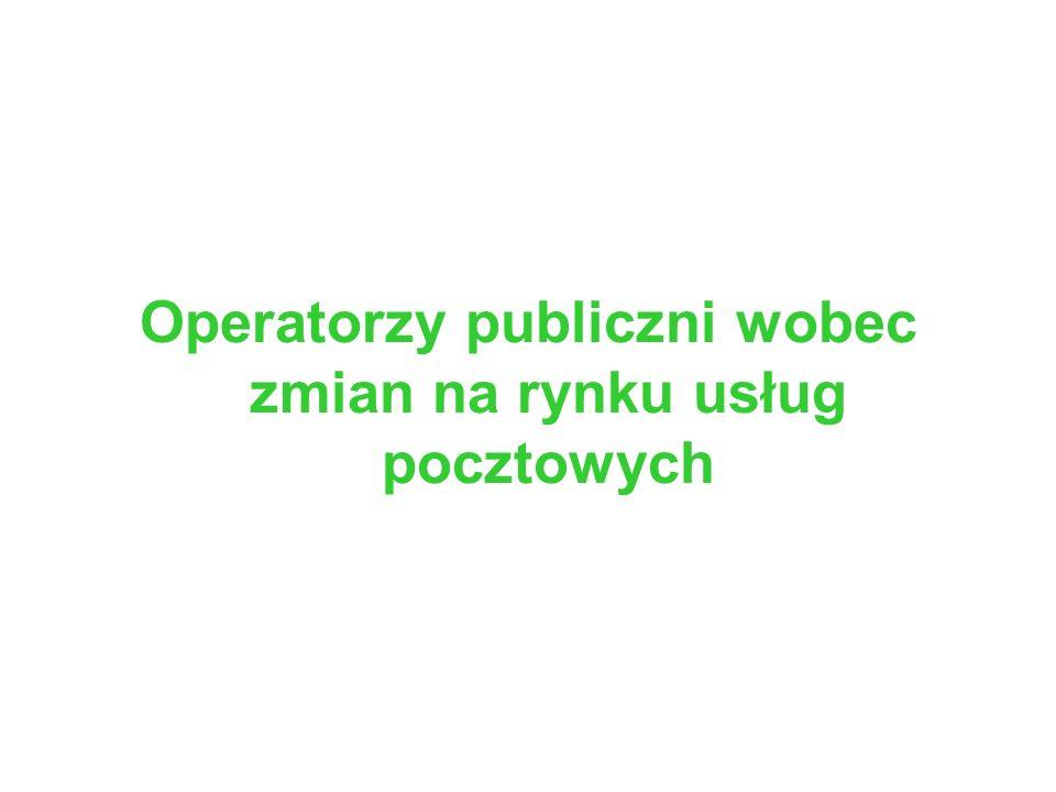 Operatorzy publiczni wobec zmian na rynku usług pocztowych