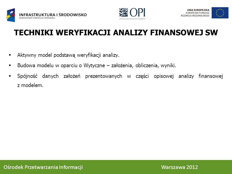 Aktywny model podstawą weryfikacji analizy. Budowa modelu w oparciu o Wytyczne – założenia, obliczenia, wyniki. Spójność danych założeń prezentowanych