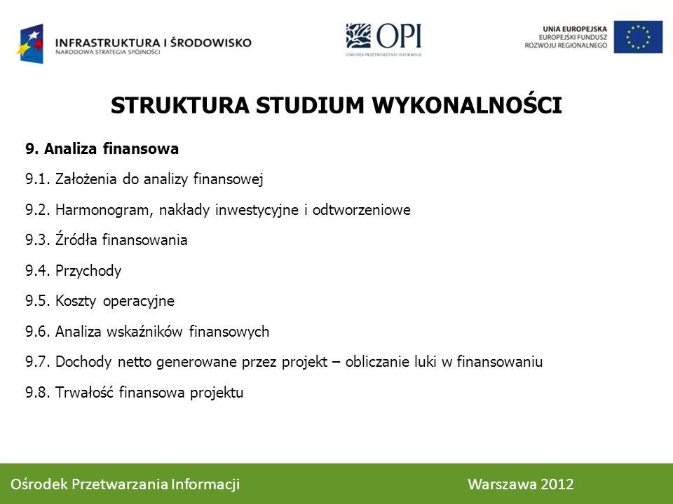 9.Analiza finansowa 9.1. Założenia do analizy finansowej 9.2.