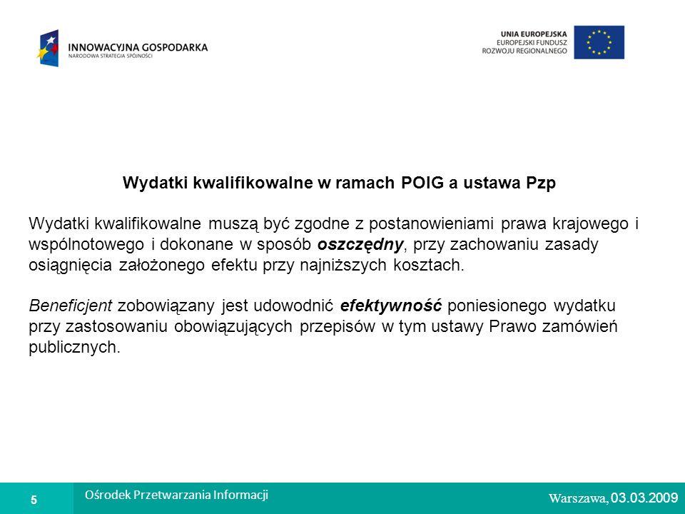 1 Warszawa, 26.02.2009 Kontrola procedury zawierania umów w ramach POIG W przypadku powzięcia uzasadnionego podejrzenia rażącego naruszenia ustawy Pzp mogącego skutkować koniecznością unieważnienia umowy, IP może wystąpić do Prezesa UZP z wnioskiem o przeprowadzenie kontroli zgodnie z ustawą Pzp W ramach prowadzonej kontroli procedur zawierania umów, IP będzie prowadziła również kontrole pod kątem stwierdzenia, czy nie doszło do naruszenia w stosowaniu przepisów w dziedzinie zamówień publicznych powodujących konieczność nałożenia korekty finansowej, zgodnie z zasadami opisanymi w dokumencie Wymierzanie korekt finansowych za naruszenia prawa zamówień publicznych związane z realizacją projektów współfinansowanych ze środków funduszy UE (tzw.