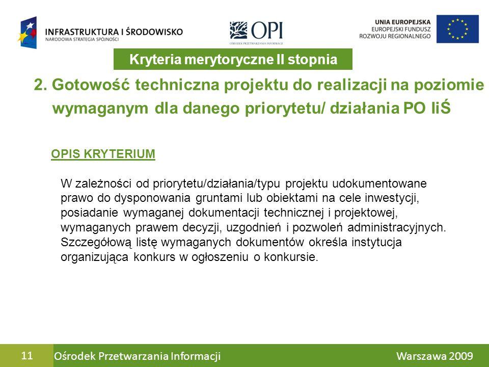 Ośrodek Przetwarzania Informacji Warszawa 200911 2.