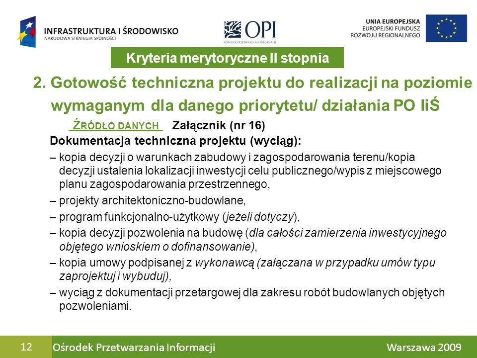 Ośrodek Przetwarzania Informacji Warszawa 200912 2.