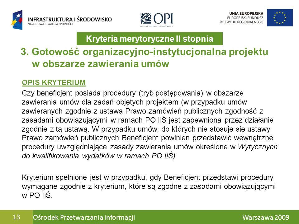 Ośrodek Przetwarzania Informacji Warszawa 200913 3.