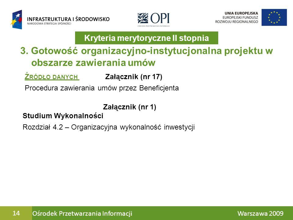 Ośrodek Przetwarzania Informacji Warszawa 200914 3.