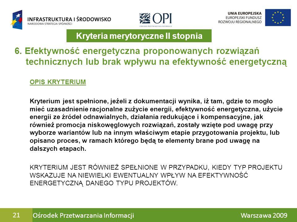 Ośrodek Przetwarzania Informacji Warszawa 200921 6.
