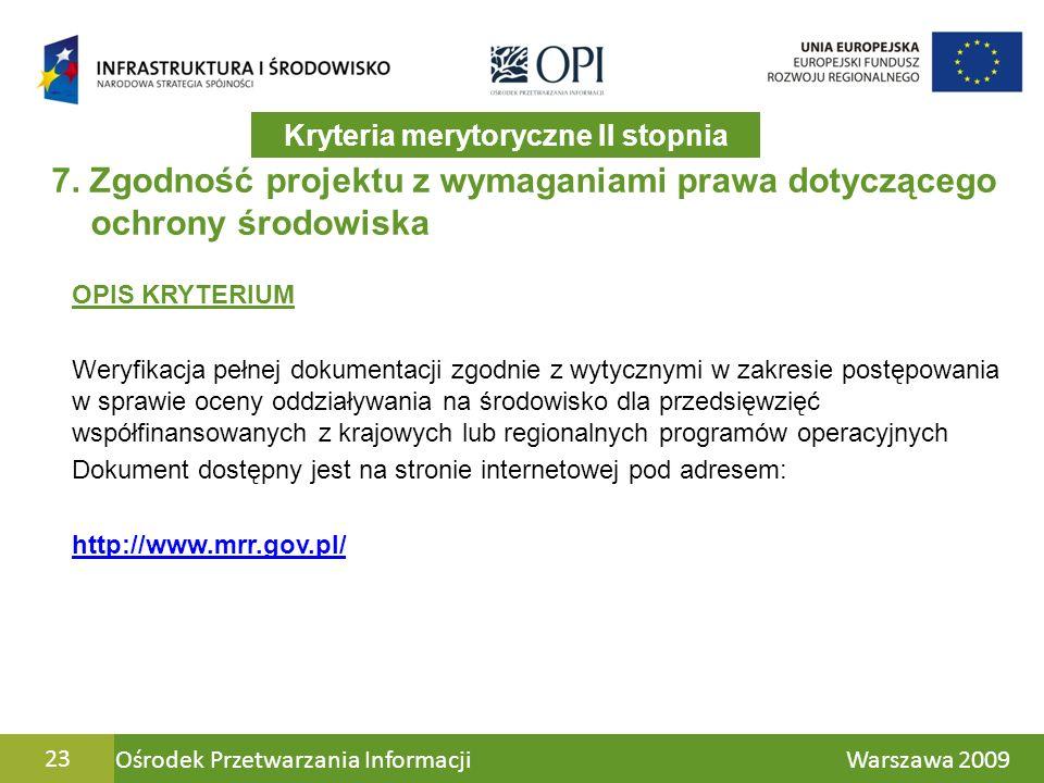 Ośrodek Przetwarzania Informacji Warszawa 200923 7.