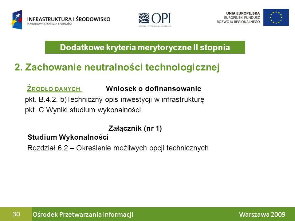 Ośrodek Przetwarzania Informacji Warszawa 200930 2.