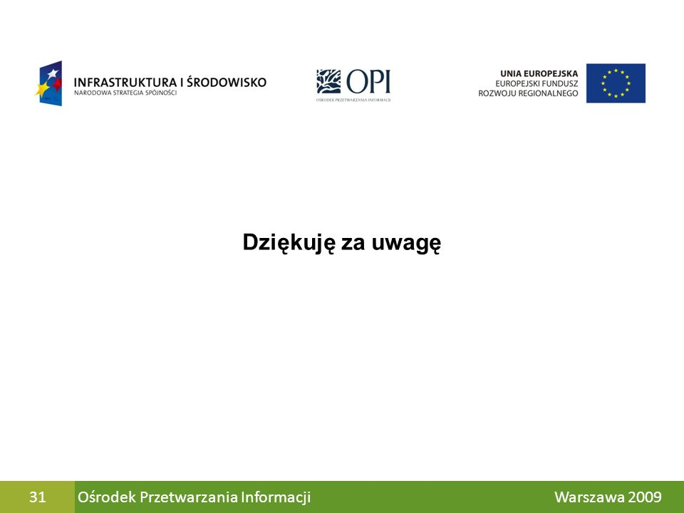 Ośrodek Przetwarzania Informacji Warszawa 200931 Dziękuję za uwagę
