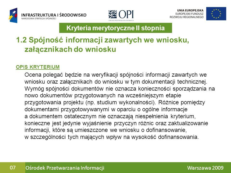 Ośrodek Przetwarzania Informacji Warszawa 200928 1.