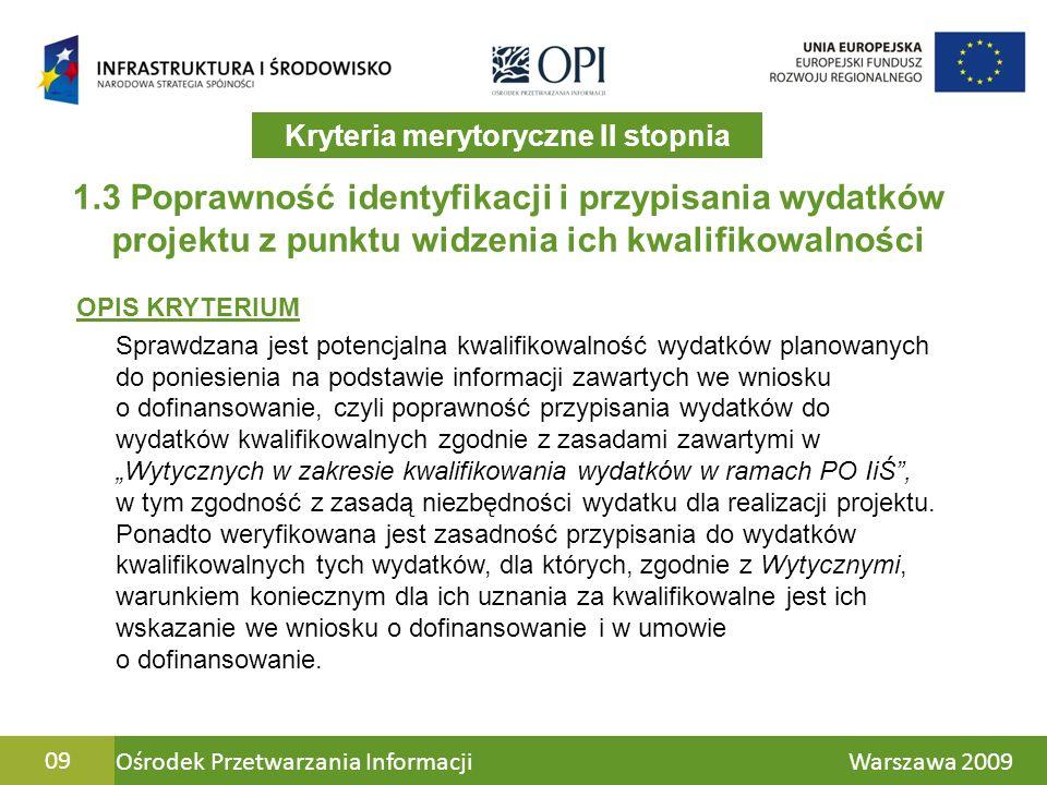 Ośrodek Przetwarzania Informacji Warszawa 200920 5.