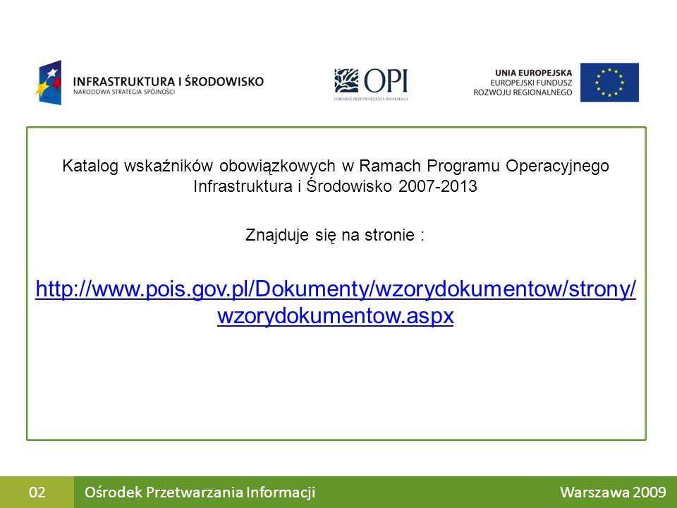 Ośrodek Przetwarzania Informacji Warszawa 200913