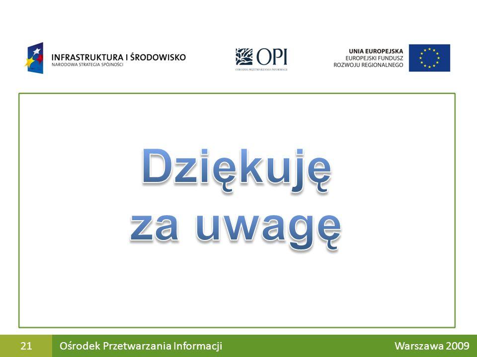 Ośrodek Przetwarzania Informacji Warszawa 200921