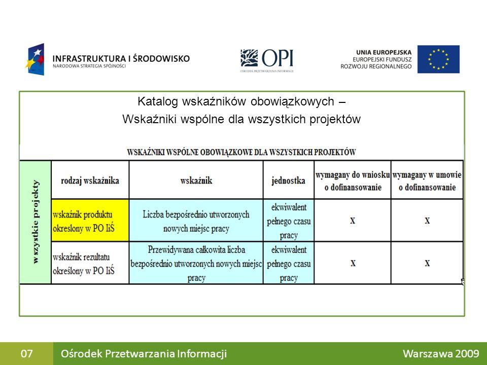 M Ośrodek Przetwarzania Informacji Warszawa 200918