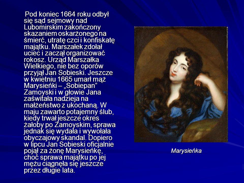 Pod koniec 1664 roku odbył się sąd sejmowy nad Lubomirskim zakończony skazaniem oskarżonego na śmierć, utratę czci i konfiskatę majątku.