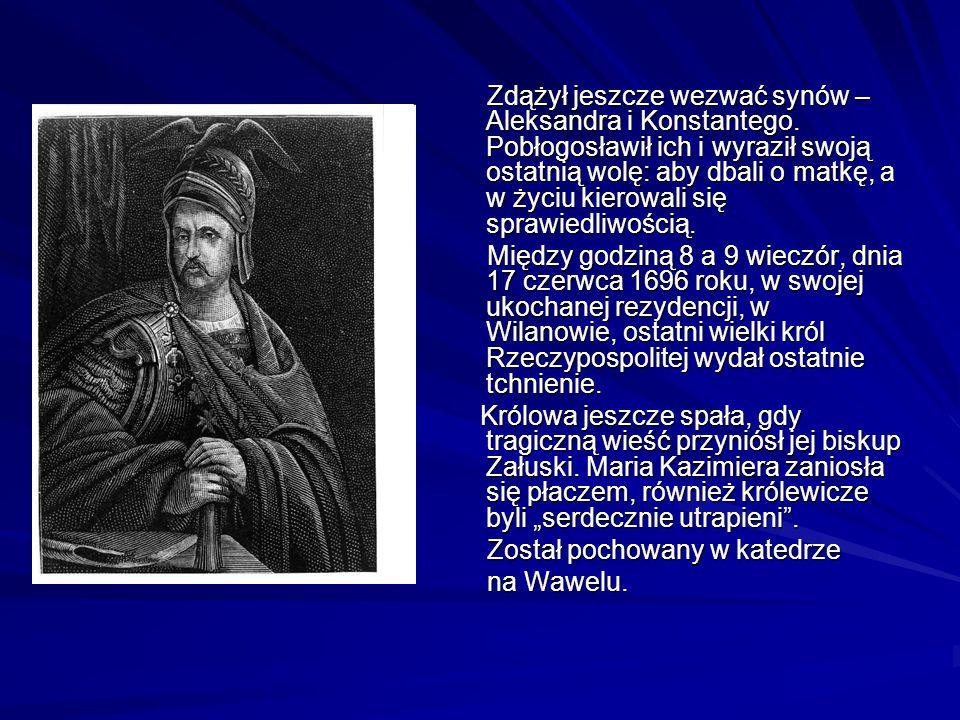 Zdążył jeszcze wezwać synów – Aleksandra i Konstantego.