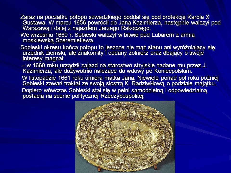 Zaraz na początku potopu szwedzkiego poddał się pod protekcję Karola X Gustawa.