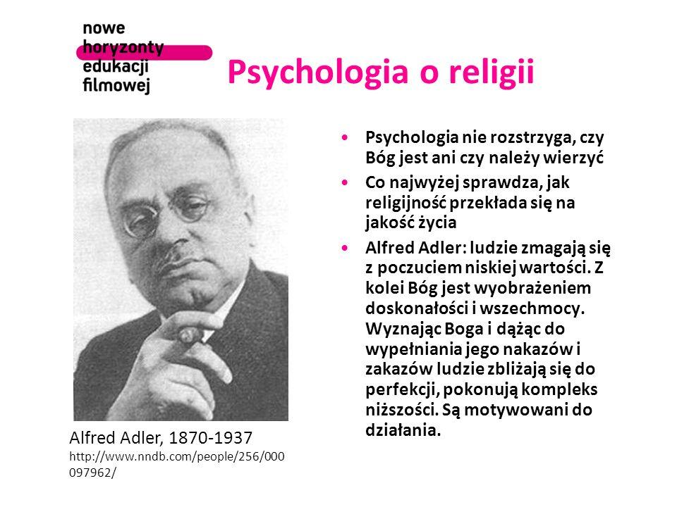 Psychologia o religii Psychologia nie rozstrzyga, czy Bóg jest ani czy należy wierzyć Co najwyżej sprawdza, jak religijność przekłada się na jakość ży