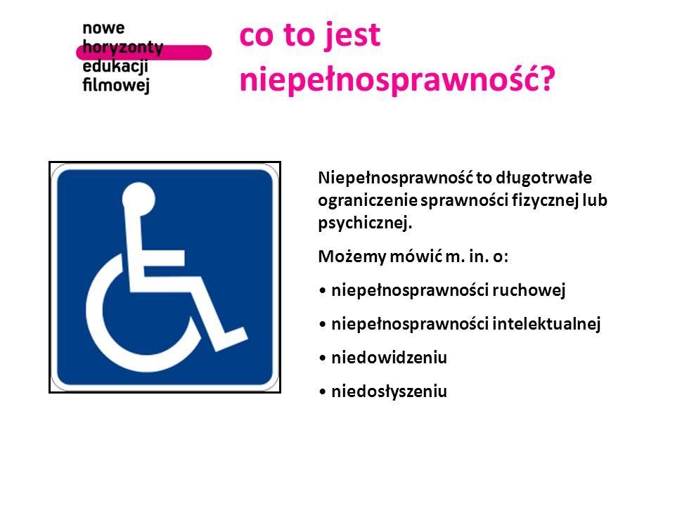 co to jest niepełnosprawność? Niepełnosprawność to długotrwałe ograniczenie sprawności fizycznej lub psychicznej. Możemy mówić m. in. o: niepełnospraw