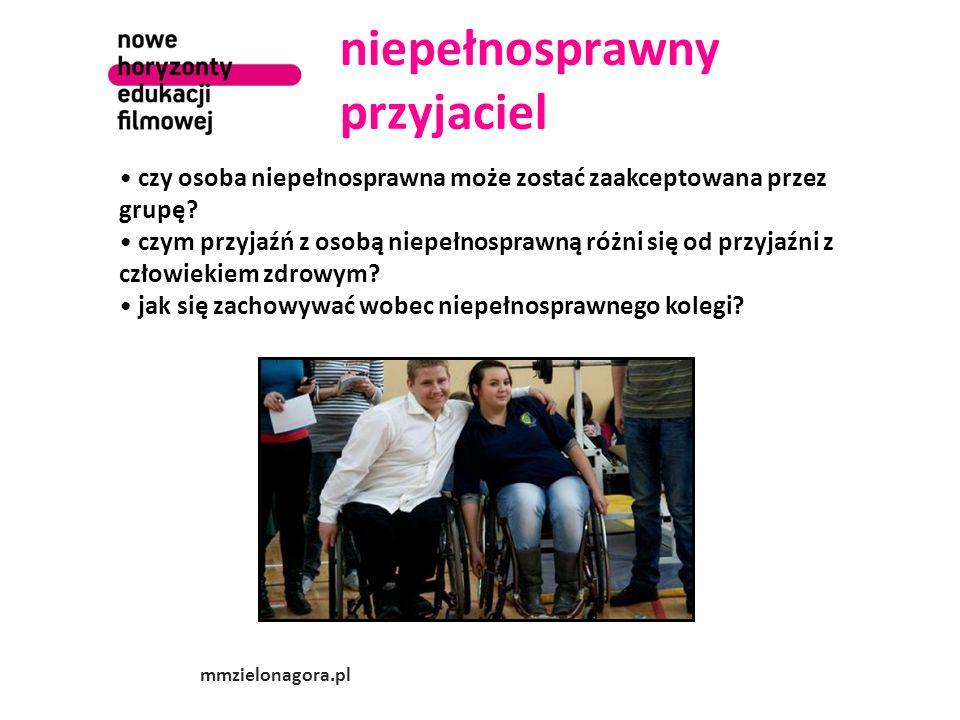 niepełnosprawny przyjaciel czy osoba niepełnosprawna może zostać zaakceptowana przez grupę? czym przyjaźń z osobą niepełnosprawną różni się od przyjaź