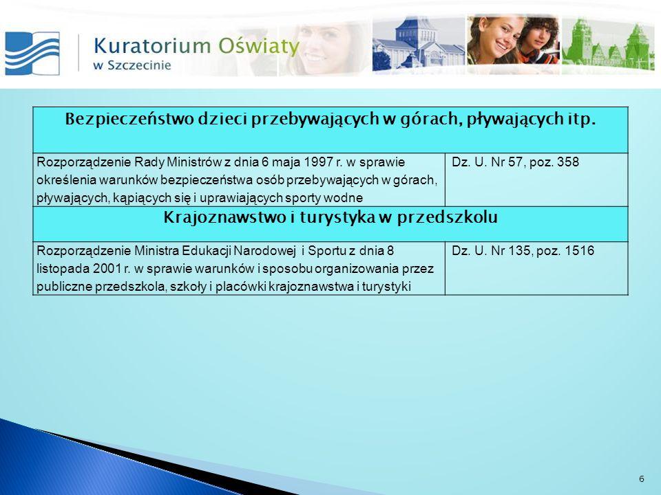 Dzieci niepełnosprawne w przedszkolach ogólnodostępnych i integracyjnych Rozporządzenie Ministra Edukacji Narodowej i Sportu z dnia 18 stycznia 2005 r.