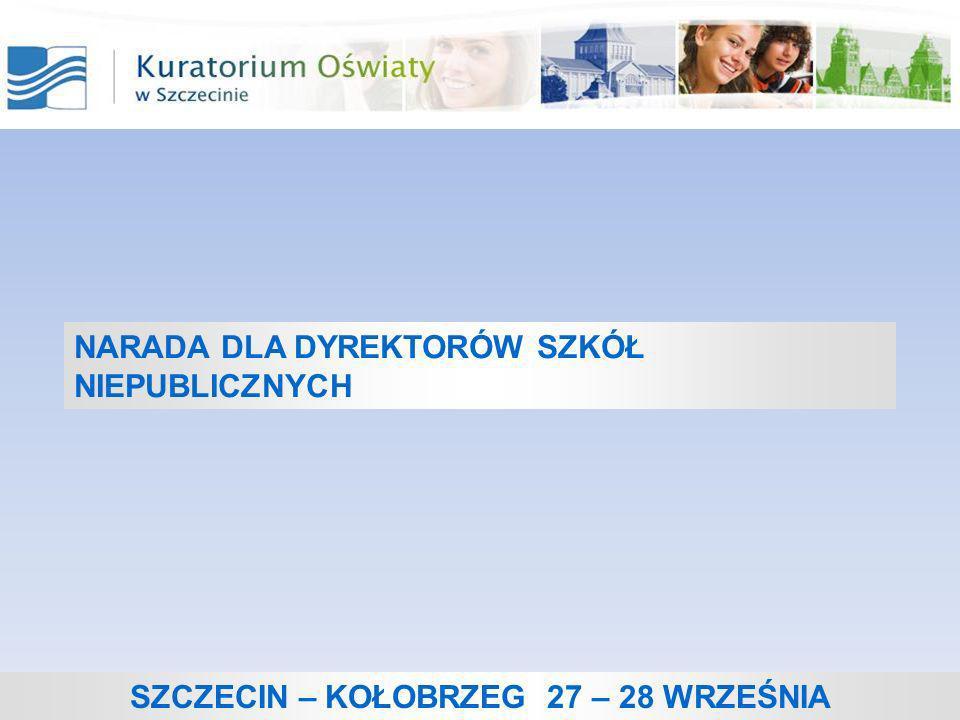 Nadzór pedagogiczny kuratora oświaty nad szkołami niepublicznymi.