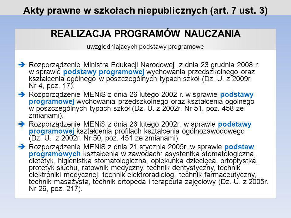 Rozporządzenie MENiS z dnia 4 czerwca 2003r.