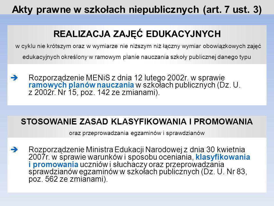 KSZTAŁCENIE W ZAWODACH określonych w klasyfikacji ustalonej dla szkół publicznych Rozporządzenie Ministerstwa Edukacji Narodowej z dnia 26 czerwca 2007r.