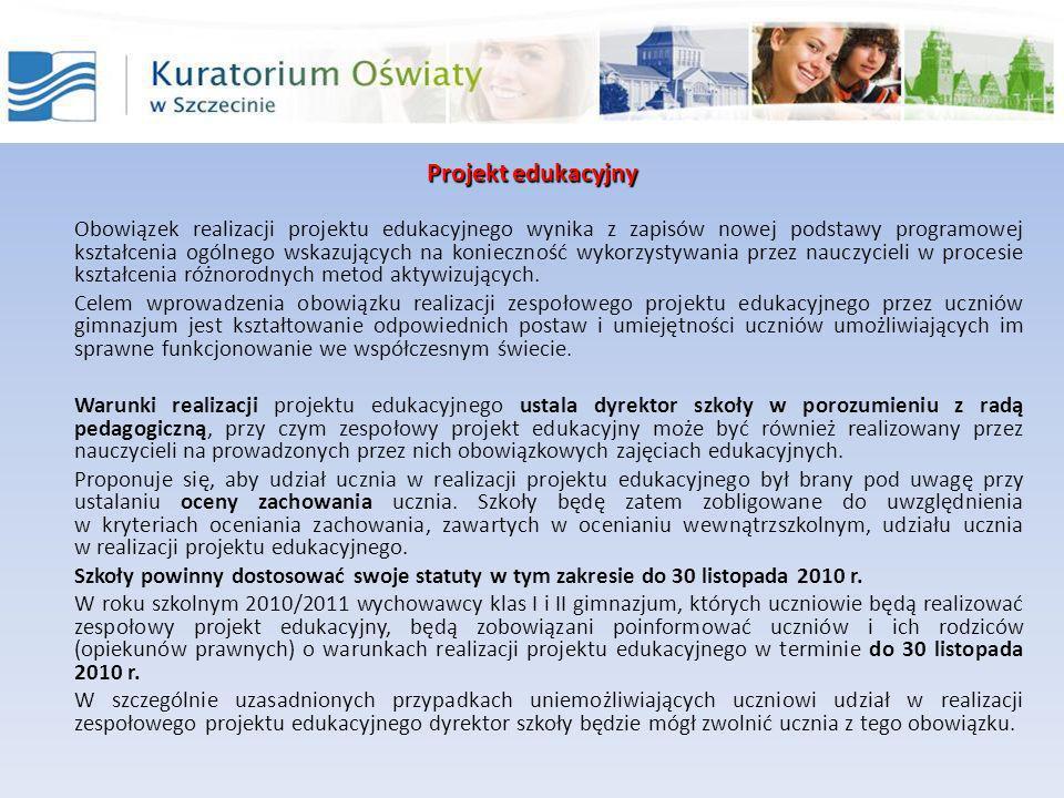 Projekt edukacyjny Nowe brzmienie: § 21a.1.