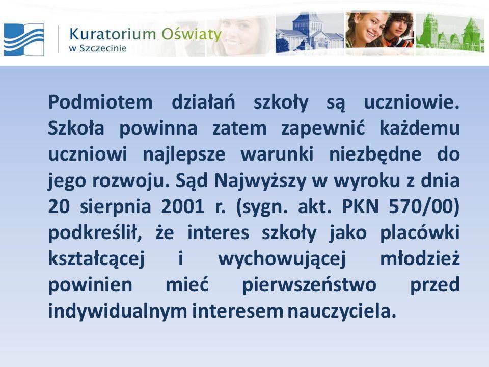 Szczególne osiągnięcia ucznia Punkty, ustalone w § 3 zarządzenia Zachodniopomorskiego Kuratora Oświaty z dnia 4 stycznia 2011r.