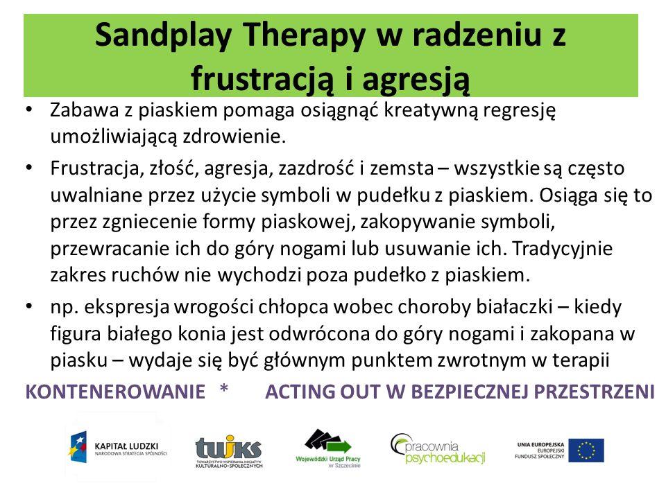 Sandplay Therapy w radzeniu z frustracją i agresją Zabawa z piaskiem pomaga osiągnąć kreatywną regresję umożliwiającą zdrowienie. Frustracja, złość, a