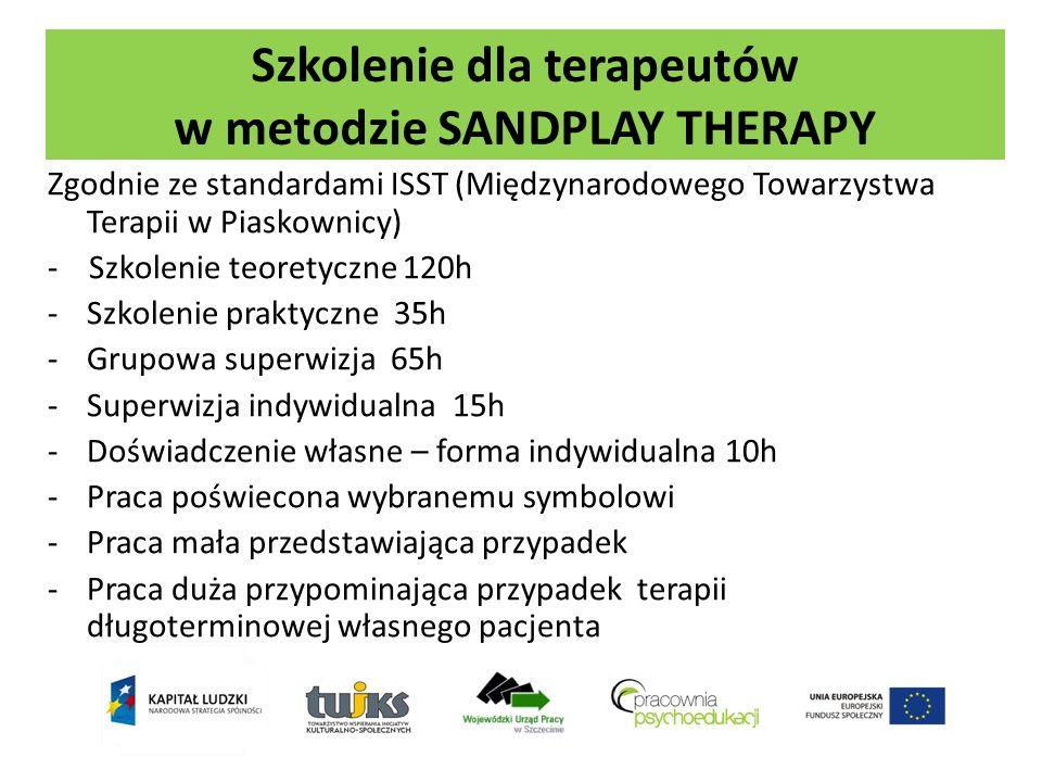 Szkolenie dla terapeutów w metodzie SANDPLAY THERAPY Zgodnie ze standardami ISST (Międzynarodowego Towarzystwa Terapii w Piaskownicy) - Szkolenie teor