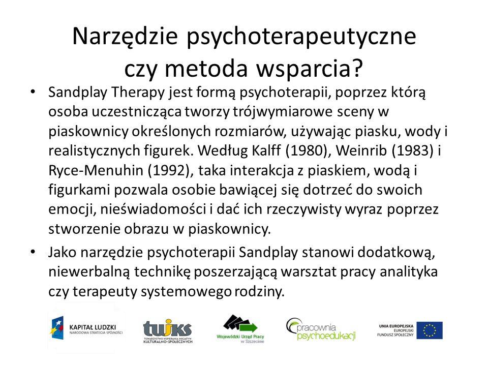 Przeciwwskazania do stosowania metody Są tożsame z przeciwwskazaniami do stosowania innych form psychoterapii : Psychoza, obecność urojeń Uzależnienie od środków psychoaktywnych (alkohol, leki, narkotyki) terapia uzależnień