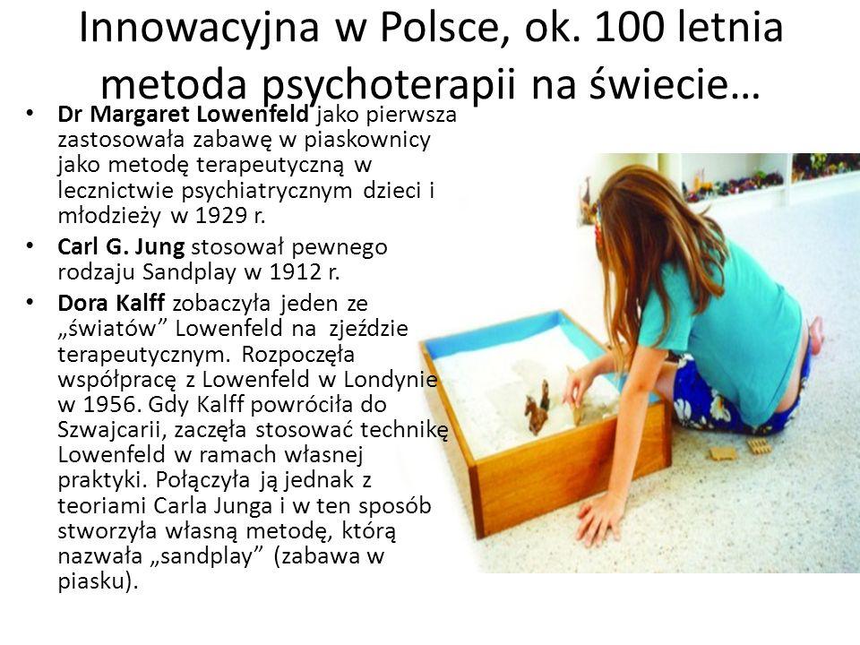 Innowacyjna w Polsce, ok. 100 letnia metoda psychoterapii na świecie… Dr Margaret Lowenfeld jako pierwsza zastosowała zabawę w piaskownicy jako metodę