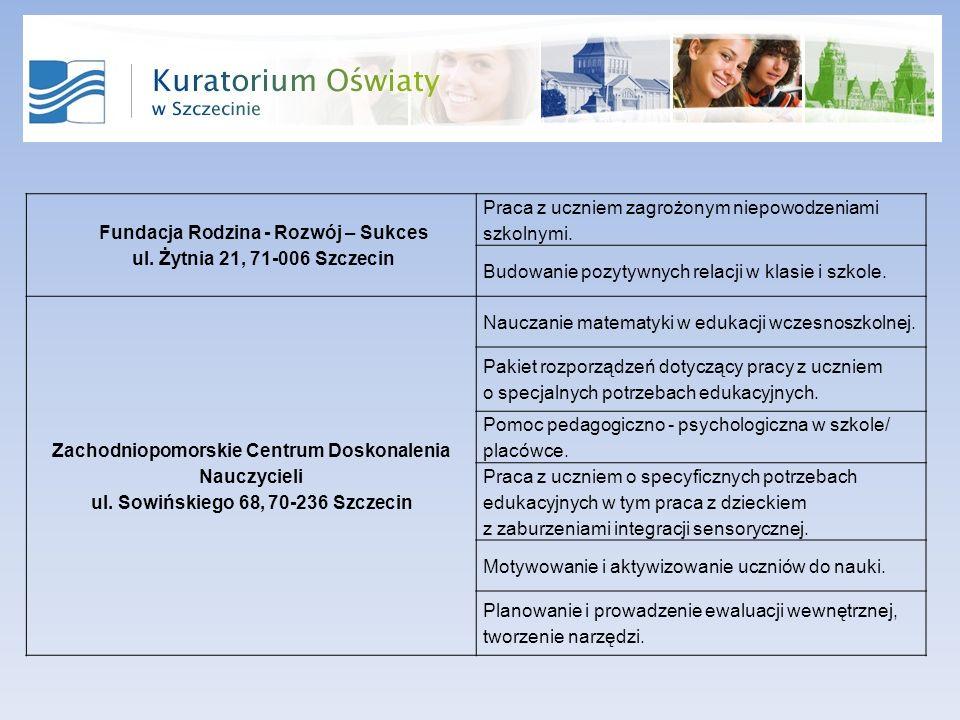 Fundacja Rodzina - Rozwój – Sukces ul.