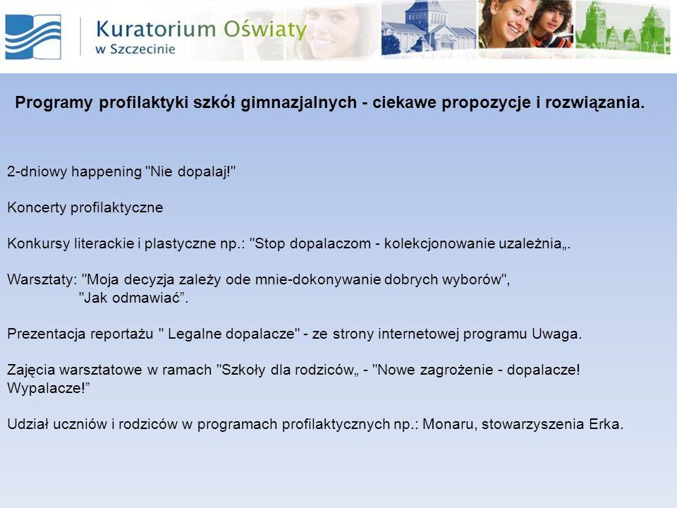 Programy profilaktyki szkół gimnazjalnych - ciekawe propozycje i rozwiązania. 2-dniowy happening